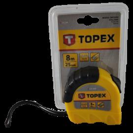 Rolmaat Topex Shiftlock 8mtr; rolbandmaat 8 meter