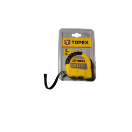 Rolmaat Topex Shiftlock 5mtr; rolbandmaat met CE keur