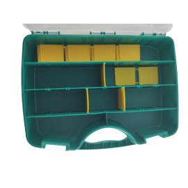 Tayg assortimentskoffer groen 23-26