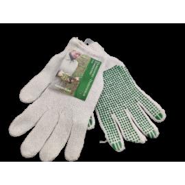 Werkhandschoen dames groen 2 paar