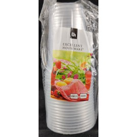 Excelent Houseware drinkbekers plastic (20) per 2 sets