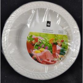 Plastic bordjes (20) per 3 sets Excelent Houseware