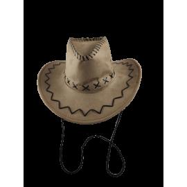 Cowgirl- / cowboyhoed 40 cm imitatie wildleder met koord