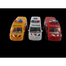 Auto's (3) brandweer, politie en ambulance