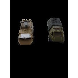 Legervoertuigen die-cast metal (per 4 st.)