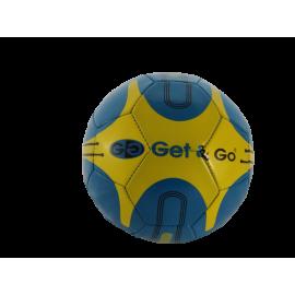Voetbal Get en Go; PVC Kunstleder; maat 5; dubbel-laags; ass. kleur