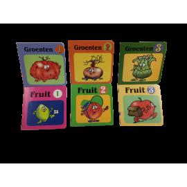 De wonderlijke wereld van groenten en fruit; box met 6 boekjes (per 3 st)
