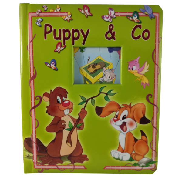 Venster Karton Boek Puppy en Co