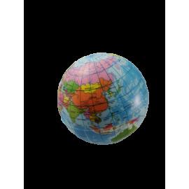 Foam bal wereldbol 7,5 cm ( per 6 )