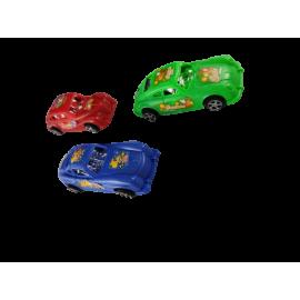 Auto met cartoon opdruk (per 24 st.)