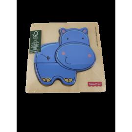 Fisher-Price Houten Puzzel Nijlpaard