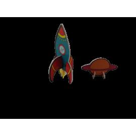 3D Space puzzel (per 24 st)