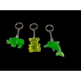 Sleutelhanger Glasdieren (per 24 st.)