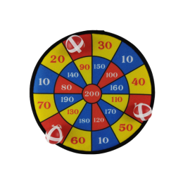 Dartbord soft met 3 ballen klittenband (per 2 st.)