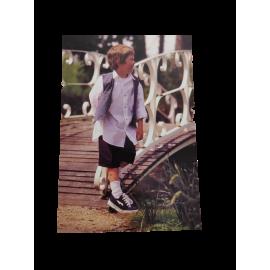 Ansichtkaarten jongen bij brug