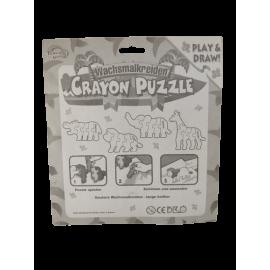 Crayon Puzzle waskrijt dierenpuzzels kleurpuzzelstukjes (per 8)