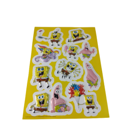3D Stickervel Spongebob (per 4 vellen)